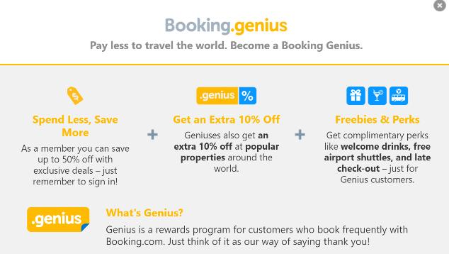 Genius Booking.Com